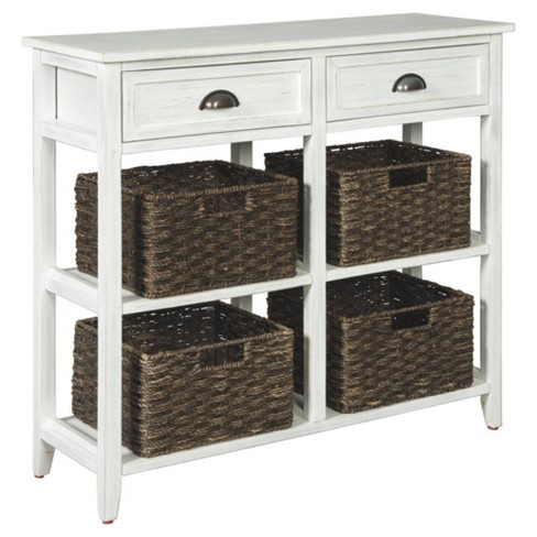 Oslember Sofa And Console Table White Signature Design By Ashley