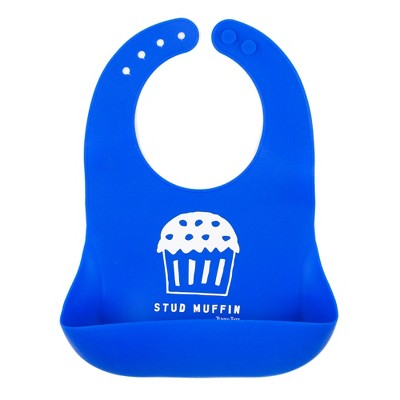 Tunno Tots Silicone Stud Muffin Bib - Blue