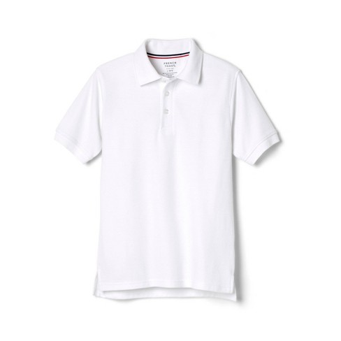 French Toast Young Men's Uniform Short Sleeve Pique Polo Shirt - White - image 1 of 2