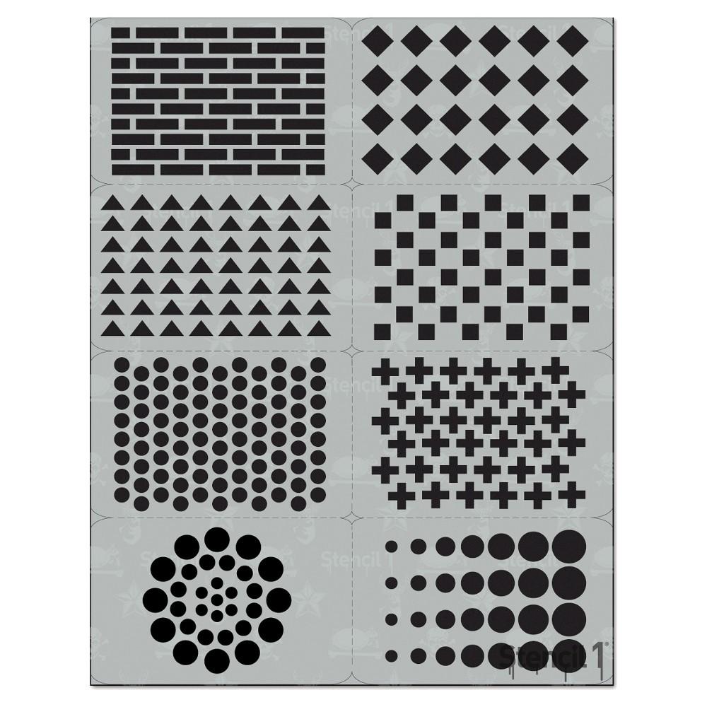 Stencil1 Pattern Multipack 8ct - Stencil 8.5