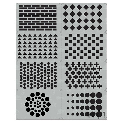 "Stencil1® Pattern Multipack 8ct - Stencil 8.5"" x 11"" - image 1 of 3"