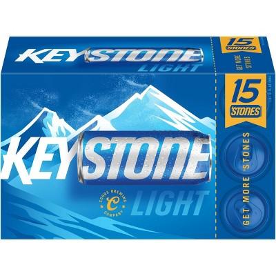 Keystone Light Beer - 15pk/12 fl oz Cans
