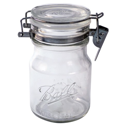 Ball 38oz Sure Seal Glass Mason Jar with Wire Bail Lid - image 1 of 3