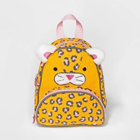 Toddler Cat Print Backpack - Cat & Jack™ Yellow - image 1 of 4