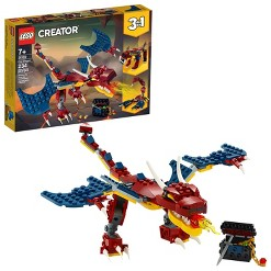 LEGO Creator 3-in-1 Fire dragon Fearsome Building Kit 31102