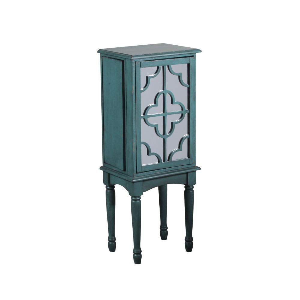Ciara Jewelry Armoire Teal (Blue)/Mirror - Powell Company