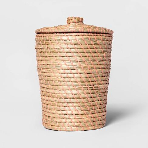 Solid Bathroom Wastebasket Brown/Pink - Opalhouse™ - image 1 of 3