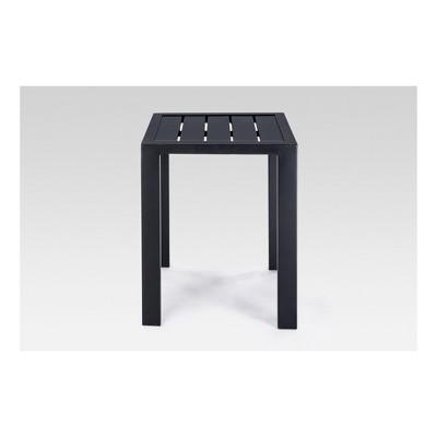 Steel Slat Patio Accent Table - Black - Threshold™