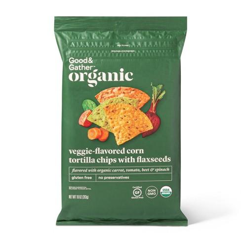 Organic Veggie Tortilla Chips - 10oz - Good & Gather™ - image 1 of 3