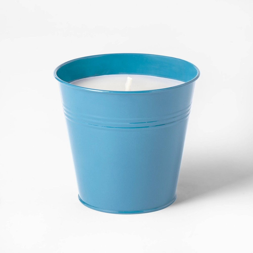 Best Review Citronella Wax Bucket Candle Light Blue Sun Squad