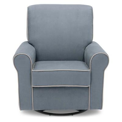Delta Children® Rowen Nursery Glider Swivel Rocker Chair - Frozen Blue /Creme Welt