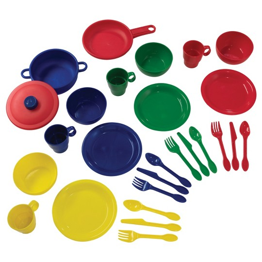 KidKraft Primary Colors Cookware 27 Piece Set image number null