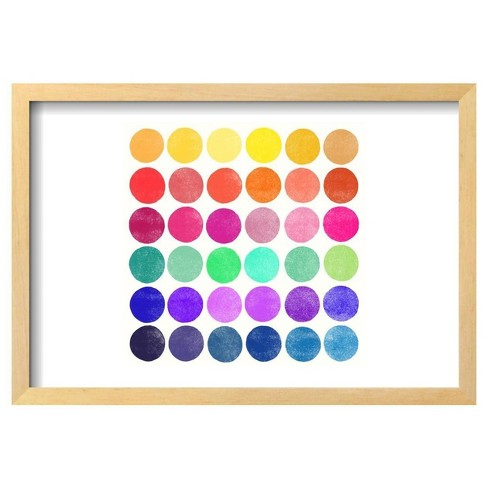 "Colourplay 6 By Garima Dhawan Framed Poster 19""X13"" - Art.Com - image 1 of 4"