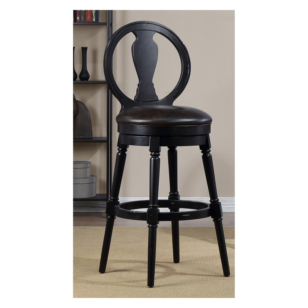24 Candace Bar Height Swivel Stool Black - Foremost