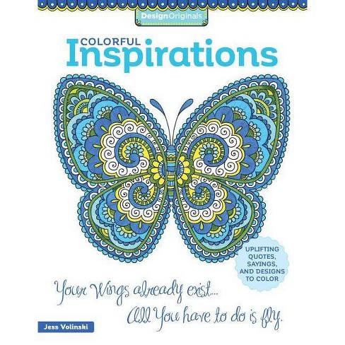 Colorful Inspirations Adult Coloring Book Uplifting Quotes Sayings
