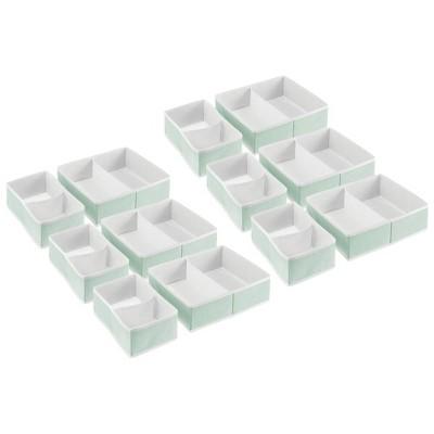 mDesign Dresser Drawer/Closet Storage Organizer, 2 Sizes, Set of 12