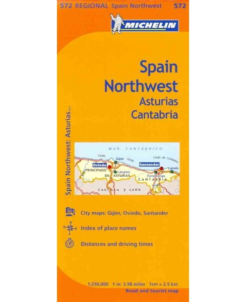 Michelin Spain Northwest, Asturias Cantabria/ Espagne Nord-Ouest Asturies Cantabrie -  (Paperback) - image 1 of 1