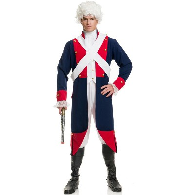 Charades Revolutionary Soldier Adult Costume, X-Small