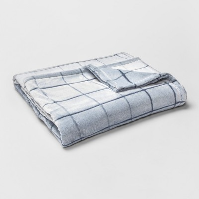 Twin Micromink Plush Bed Blanket Navy - ? - Room Essentials™