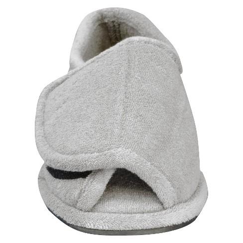 e9f42449dca2 Men s MUK LUKS® Adjustable Open Toe Slipper - Pearl Gray S(7-9)   Target
