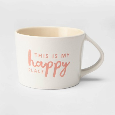 12oz Porcelain This is My Happy Place Mug Off White - Threshold™