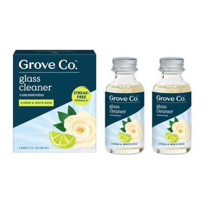 Grove Co. Glass Cleaner Concentrates - Citron & White Rose - 2pk