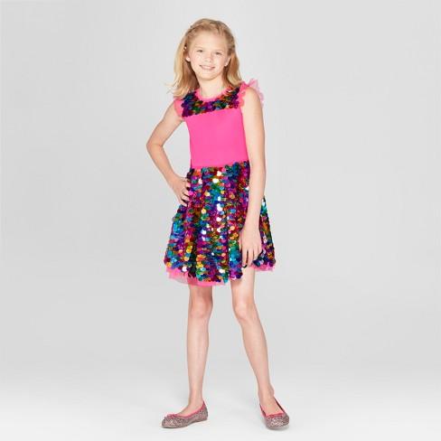 d640e532d0bd Girls  Nickelodeon JoJo s Closet Sequin Dress - Pink   Target