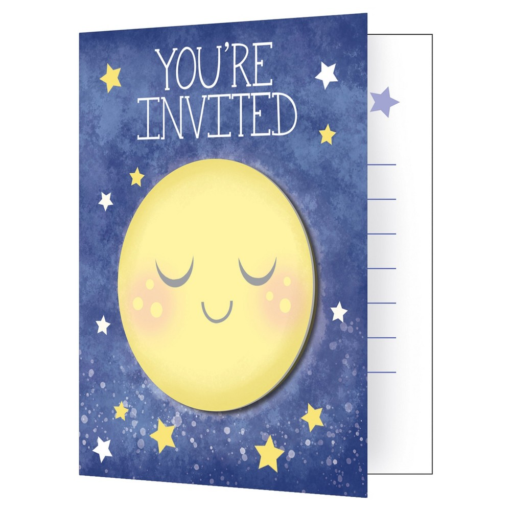 8ct To the Moon and Back Invitations