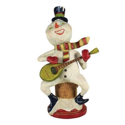 "Christmas 9.75"" Strumming Snowman Banjo Singing  -  Decorative Figurines"