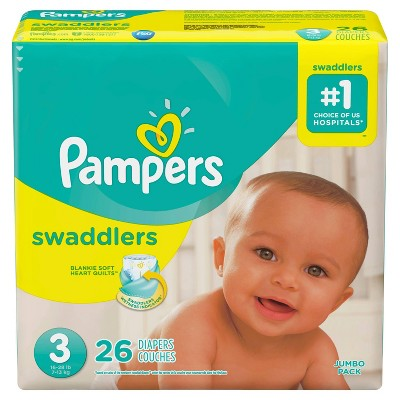 Pampers Swaddlers Diapers Jumbo Pack - Size 3 (26ct)