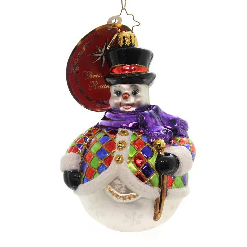 """Christopher Radko 5.0"""" Chilly-Quin Snowman Ornament - image 1 of 2"""