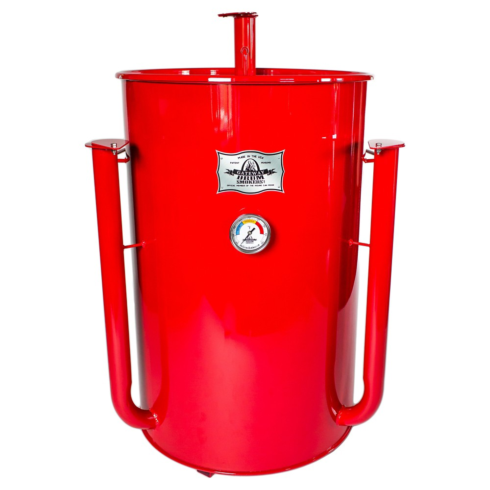 Gateway Drum Smoker 55 Gallon - Red