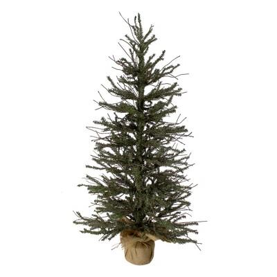 Northlight 3' Unlit Artificial Christmas Tree Warsaw Twig in Burlap Base