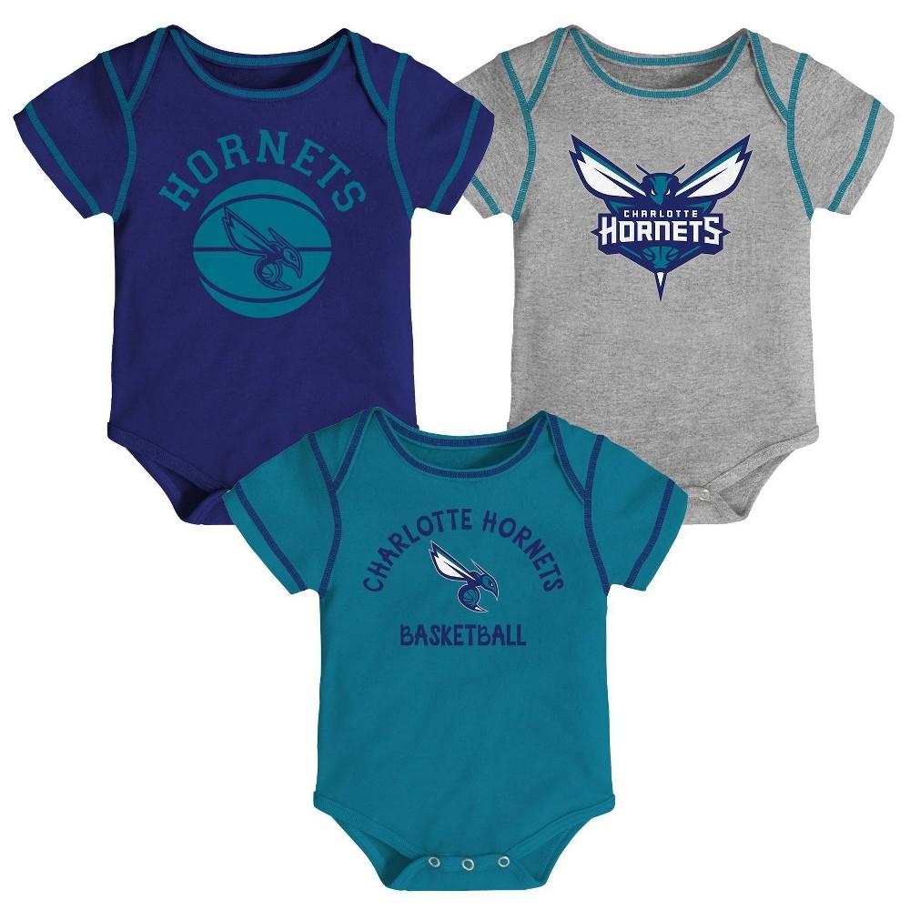 Nba Charlotte Hornets Baby Boys 39 Rookie Bodysuit Set 3pk 18m