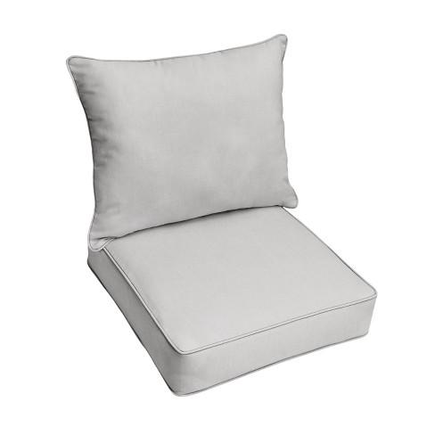 Sunbrella Outdoor Deep Seat Pillow, Deep Seat Patio Cushions