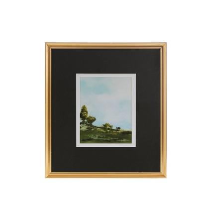 Across The Plains Framed Glass Wall Art Double Mat - Martha Stewart