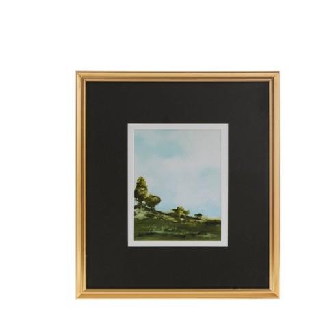 Across The Plains Framed Glass Wall Art Double Mat - Martha Stewart - image 1 of 4