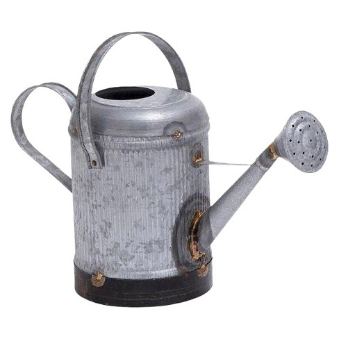Galvanized Metal Ridge Watering Can - Ore International - image 1 of 1