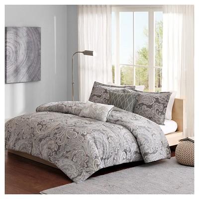 Dierdre Cotton Comforter Set (Full/Queen)5-Piece - Gray