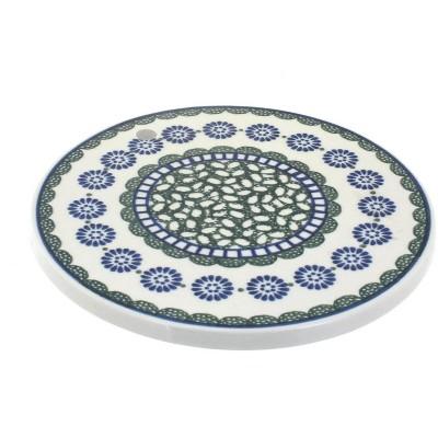 Blue Rose Polish Pottery Maia Trivet
