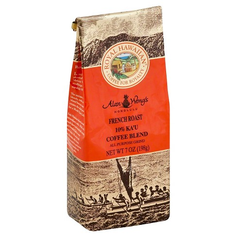 Royal Hawaiian 10% Ka'U Blend French Roast Dark Roast Ground Coffee - 7oz - image 1 of 1