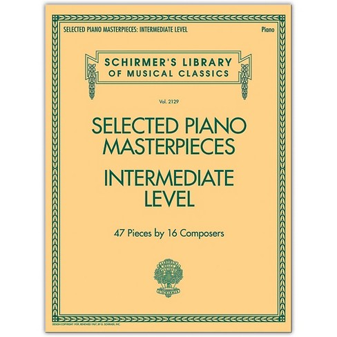 G. Schirmer Selected Piano Masterpieces - Intermediate Level Piano Collection Series Softcover - image 1 of 1
