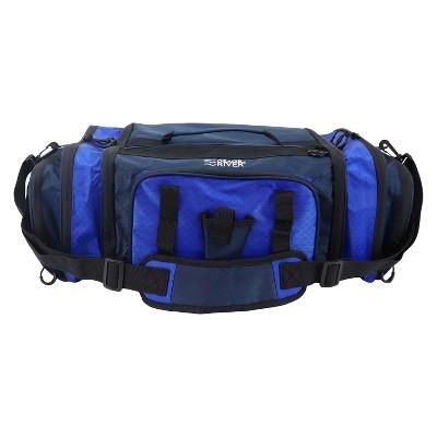 Osage River Large Tackle Bag, Soft Sided Front Loader Fishing Bag with Pliers Holder