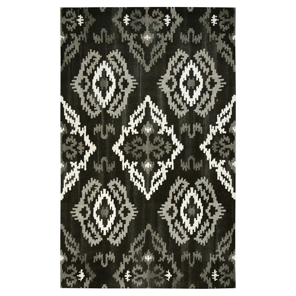 Image of Medallion Ikat Rug - Black - (8'X10') - Rizzy Home