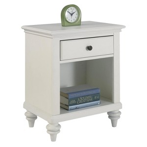 Home Bermuda Nightstand White/Espresso - Home Styles, Brushed White
