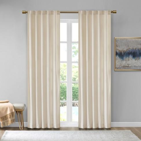Set Of 2 Bryce Poly Velvet Room Darkening Curtain Panels Target