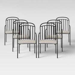 Farmhouse 6pk Patio Dining Chair Linen - Threshold™