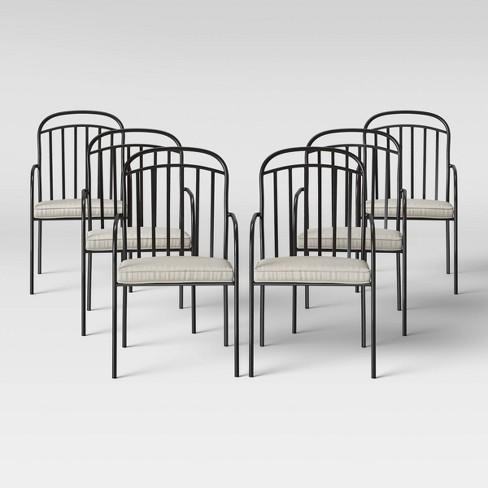 Farmhouse 6pk Patio Dining Chair Linen, Farmhouse Patio Furniture