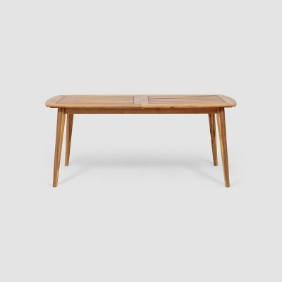 Stamford Rectangle Acacia Wood Expandable Dining Table - Teak - Christopher Knight Home