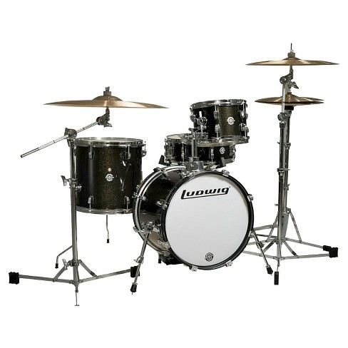 Ludwig Breakbeats 4 Piece Shell Pack with Riser - Black Sparkle - image 1 of 1